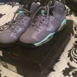 Other - Jordan iron purple 6's , size 5.5 in girls .